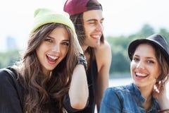 Группа в составе молодые люди Стоковое Изображение