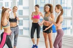 Группа в составе молодые sportive женщины Стоковая Фотография