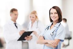 Группа в составе доктора в больнице Стоковое фото RF