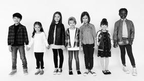 Группа в составе основные школьники стоковые изображения rf