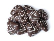 Группа в составе пряники застекленные шоколадом Стоковые Фотографии RF