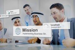 Группа в составе разнообразия бизнесмены концепции встречи Стоковые Изображения RF