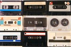 Группа в составе ретро магнитофонные кассеты Стоковое Изображение RF