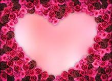 Группа в составе розовая рамка цветка Стоковое Изображение