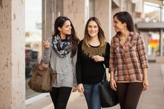 Группа в составе друзья вися вне на моле Стоковые Фото