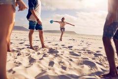 Группа в составе друзья на каникулах пляжа Стоковые Изображения RF