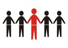 Группа в составе силуэт диаграмм, черных и красных иллюстрация штока