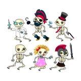 Группа в составе смешные скелеты. Стоковая Фотография RF