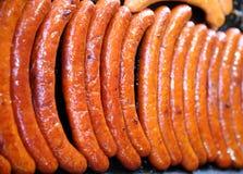 Группа в составе сосиски печь на горячих железных плитах Стоковое Изображение RF