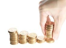 Группа в составе стог монеток одного доллара Стоковая Фотография RF