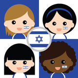 Группа в составе сторонники счастливого Израиля Стоковая Фотография RF