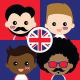 Группа в составе сторонники счастливой Великобритании Стоковые Фото