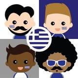 Группа в составе сторонники счастливой Греции Стоковое Изображение RF