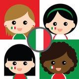 Группа в составе сторонники счастливой Италии Стоковые Изображения RF