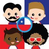 Группа в составе сторонники счастливой Чили Стоковые Фотографии RF