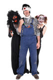 Группа в составе страшные твари хеллоуина Стоковое Фото