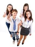 Группа в составе счастливые студенты Стоковое Изображение