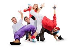 Группа в составе счастливое молодые люди стоковые изображения rf