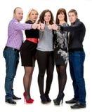 Группа в составе счастливые бизнесмены Стоковое фото RF