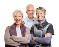Группа в составе счастливые старшие люди Стоковое фото RF