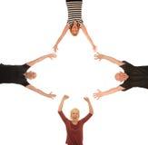 Группа в составе счастливые люди Стоковая Фотография RF