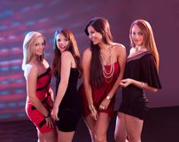 Группа в составе танцевать женщин Стоковое Фото