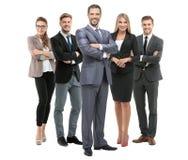Группа в составе усмехаясь бизнесмены Изолировано над белой предпосылкой стоковые изображения rf