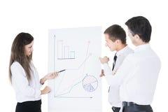 группа в составе успешные бизнесмены Диаграммы и grap обсуждения Стоковая Фотография RF