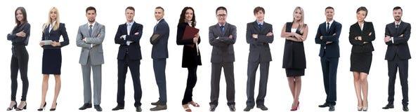 Группа в составе успешные бизнесмены изолированные на белизне стоковые изображения rf