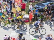 Группа в составе фавориты на Col du Glandon - Тур-де-Франс 2015 Стоковое фото RF