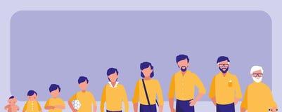 Группа в составе характер воплощения членов семьи бесплатная иллюстрация