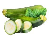 Группа в составе цукини vegetable сердцевины сквошей изолированный на белом ба Стоковое фото RF