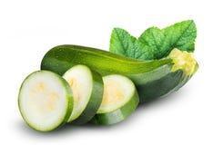 Группа в составе цукини vegetable сердцевины сквошей на белом ба Стоковые Фото