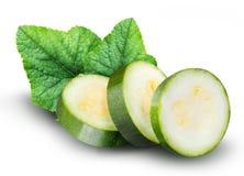 Группа в составе цукини vegetable сердцевины сквошей на белом ба Стоковое Фото