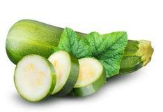 Группа в составе цукини vegetable сердцевины сквошей на белом ба Стоковые Изображения