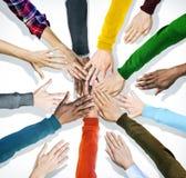 Группа в составе человеческие руки совместно Стоковое Изображение RF