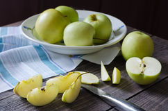 Группа в составе яблоки Стоковое Изображение