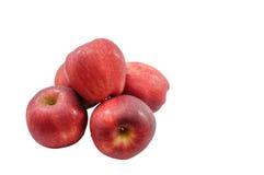 Группа в составе яблоко на белом пути background+clippind Стоковые Изображения RF