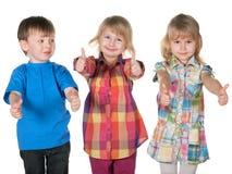 Группа в составе 3 дет Стоковое Изображение