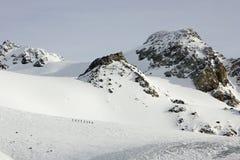 Группа в составе alpinists Стоковые Изображения RF
