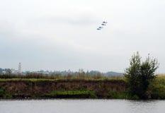 Группа в составе Mil Mi-28 русское всепогодное, дн-ноча, воинский тандем, штурмовые вертолеты анти--панцыря 2-места Стоковые Фотографии RF
