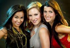 Группа в составе partying женщин Стоковые Фото