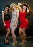 Группа в составе partying женщин Стоковые Фотографии RF