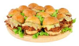 Группа в составе Shredded слайдеры сандвича говядины Стоковые Фото