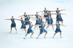 Группа грациозностей команды катаясь на коньках Стоковое Изображение