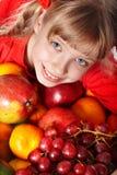 группа девушки плодоовощ ребенка Стоковая Фотография