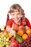 группа девушки плодоовощ ребенка Стоковое фото RF