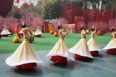 группа девушок танцульки Стоковые Фотографии RF
