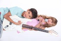 Группа детей музыкальная Стоковые Фото