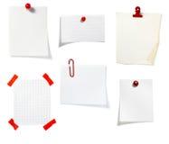 группа зажима дела замечает красный цвет офиса Стоковые Изображения RF